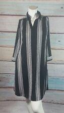 INC International Concepts Black White Striped Tunic  Dress Petite Small