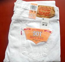 Levi´s ® 501 ®   Herren Jeans Neu Größen 29/30/32/33/34/36/38/40/42  Weiss  NEU