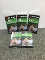 Lot of 5 Fuji Film 6 Hrs T-120 VHS Tapes, New Sealed