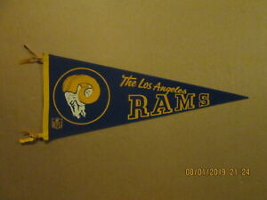 NFL The Los Angeles Rams Vintage Circa 1960's Team Logo Football Pennant