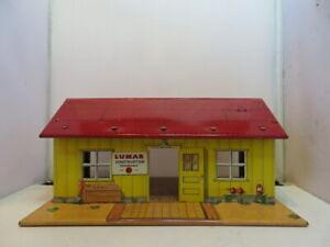 Vintage MARX Toys Tin Litho Lumar Construction Company Building TOY TRAIN LAYOUT