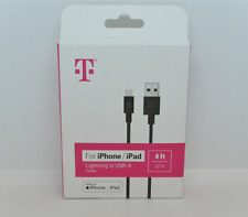 New OEM T-Mobile 4Ft Lightning Connector to USB A Cable For Apple iPhone & iPad