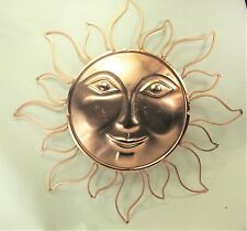 Sun face metal wall art home decor copper color