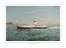 "Andrea Doria Italian Ocean Liner Robert Lloyd Painting Art Print - 17"" Image"