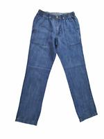 Territory Ahead Women Jeans, NEW Elastic Waist Drawstring Stretch Denim, Size S