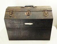 Vtg 1960s Craftsman tool box chest carry case metal socket ratchet storage