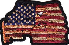 VINTAGE-LOOK AMERICAN FLAG, USA/ Pride,Biker,Vest,/Cap,Patriotic/Iron On Patch