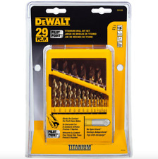 DEWALT Titanium Pilot Point Twist Drill Bit Set 29 Piece Tool Wood PVC Drilling