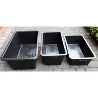 80L 60L 40L Multi Tub Horse Duck Feed Bucket Equine Stable Water Trough Pet