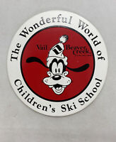 "Original Vintage Unused Disney GOOFY Sticker Decal 3.5"" Vail Beaver Creek"