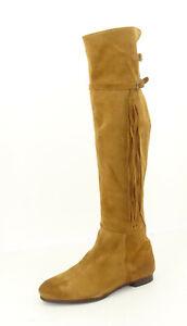 DMN Schuhe Overkneestiefel Damen Stiefel Boots Echtleder Gr. 40,5