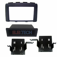 Double DIN or ISO w/Pocket Radio Dash Replacement Mount Install Kit for Nissan