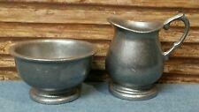 Vintage Cast Aluminum Alloy USA Creamer and Sugar Bowl