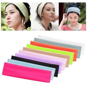 Unisex Solid Color Wide Hairband For Fitness, Running, Training And Casual Wear