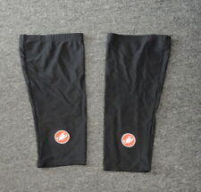 CASTELLI Black Red Polyester Blend Men's Cycling Knee Warmers Size XL B3986