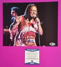 "THE DAP KINGS SHARON JONES COLOR 8""X10"" PHOTO SIGNED IN PERSON + PROOF & BAS COA"