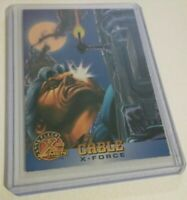 1996 Fleer CABLE X-FORCE Marvel X-MEN Trading Card #21 [Near Mint + / 9.8 grade]