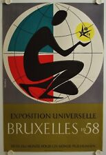 Affiche EXPOSITION UNIVERSELLE BRUXELLES 1958 illustr. RICHEZ