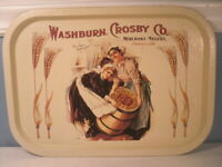 Gold Medal Flour Tin Tray Washburn Crosby Minneapolis Minnesota Bristolware Rep