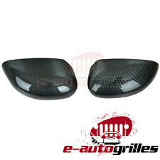 Black Carbon Fiber Look ABS Mirror Cover for 05-10 Chrysler 300