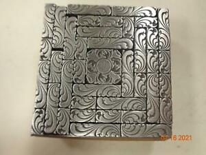 Printing Letterpress Printer Block Antique Leaf & Flower Ornament Dingbats