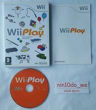 WII PLAY (WII) & U = 9 giochi! = DUCK HUNT + BILIARDI + LASER Hockey + pesca = NEAR MINT ✔