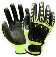 Mechanic Anti Vibration Work Glove Shock Absorbing Safety Glove Impact Resistant