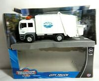 TEAMSTERZ CITY 1:56 SCALE CITY REFUSE TRUCK - WHITE - 1370244 - BOXED