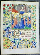 illuminated medieval BoH Miniature,Pentecost,Holy Ghost descends as Dove,ca.1475