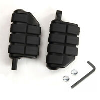 Black Rear Passenger Foot Pegs Rest Footpegs For Harley Davidson Dyna Motorcycle