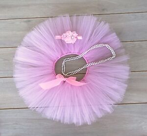 Cake Smash Outfit - First Birthday Tutu Set - Baby Girl - Light Pink