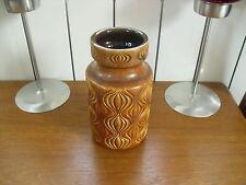 """Retro Mid-Century Scheurich Amsterdam(Onion) Brown Vase - 285-15 - 6""""(15.25cms)"""