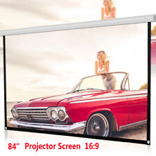 84inch HD Projector Screen 16:9 Home Cinema Theater Projection Portable Screen