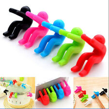 Little Men Silicone Spoon Rest Pot Clip Anti-overflow Gadget Tool Phone Holder