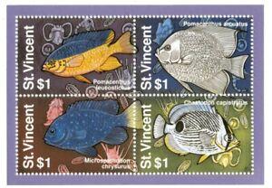 St. Vincent 1995 SC# 2179 - Fish, Marine Life, Ocean - Block of 4 Stamps - MNH