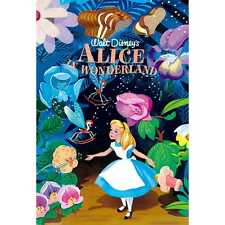 Disney Alice in Wonderland Vintage Art Series 3D Lenticular / Disney 3D Postcard
