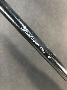 Vintage Montague 6530 6' True Temper 1 Piece Fiberglass Roller Tip Fishing Pole