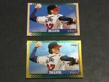 Lot (2) 1995 Score MLB TOM GLAVINE #434 GOLD RUSH & Base Atlanta Braves HOF