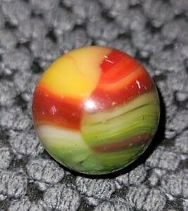 "Amazing  Agate  Lifesaver Or Peltier  Marble 11/16 "" 4  color no fractures Mint-"