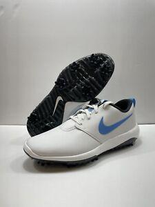 Nike Roshe G Tour White Carolina Blue Size 13 Wide Golf Shoes Cleat AR5579-105