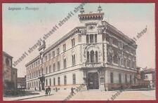 MILANO LEGNANO 53 MUNICIPIO Cartolina viaggiata 1932