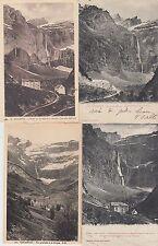 Lot 4 cartes postales anciennes GAVARNIE le cirque 5