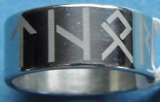 Stainless Steel Runes Ring Thor