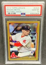 2014 Topps Update Gold #US26 Mookie Betts PSA 10 Gem Mint RC Boston Red Sox