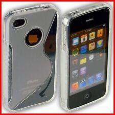 iPhone 4S / 4 Rückschale Bumper Case Tasche Hülle Schale 4G S Schutz transparent