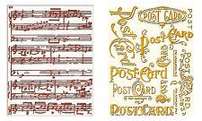 Sizzix Emboss Postcard & Sheet Music 2pk set #656946 MSRP $10.99 by Tim Holtz