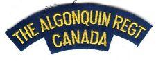 Canadian Army The Algonquin Regiment Battle Dress Shoulder Flash