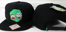 Rick and Morty Adult Swim Cartoon Snap Back Black Hat Nwt