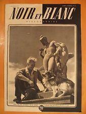 """NOIR et BLANC N° 151 du 31/12/1947-Jean Marais et son ami """"Moulouk"""""""
