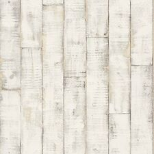 Beige Panel De Madera Wallpaper embaldosado En Un Rollo Para Baño 854305